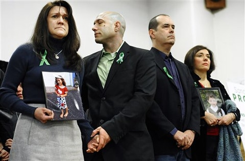 parents of a Sandy Hook school shooting victim advocate for gun safety