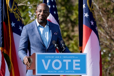 Georgia elected its first Black senator this week when Rev. Raphael Warnock defeated Kelly Loeffler in a special Georgia Senate runoff election. (AP Photo/Ben Gray, File)