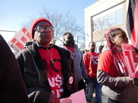 Rita Blalock (left) at a March 2020 march.