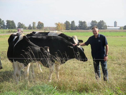 Kevin Mahalko manages a family-run organic dairy farm near Gilman. (Photo supplied)
