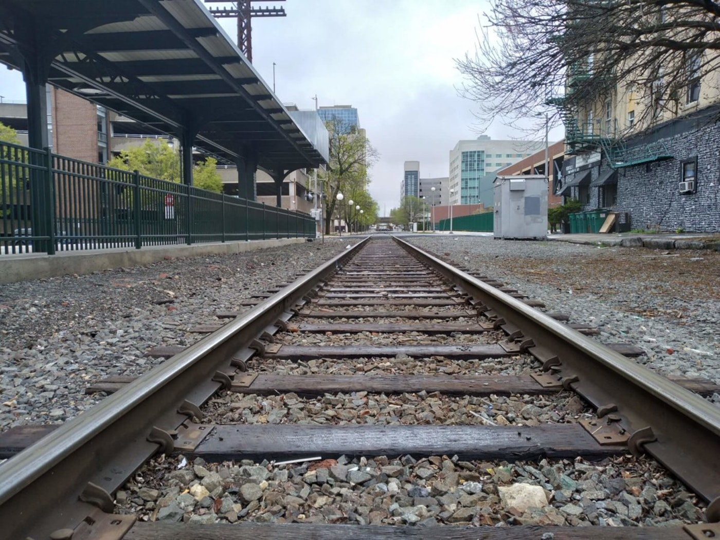 These railroad tracks could be getting more use if Amtrak's plan goes through.