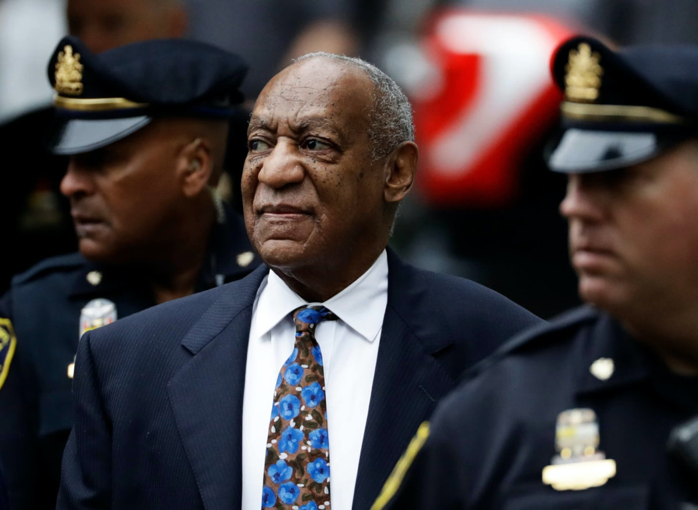 FILE - In this Sept. 24, 2018 file photo, Bill Cosby arrives for his sentencing hearing at the Montgomery County Courthouse, in Norristown, Pa. Pennsylvania's highest court has overturned comedian Bill Cosby's sex assault conviction. The court said Wednesday that they found an agreement with a previous prosecutor prevented him from being charged in the case. (AP Photo/Matt Slocum, File)