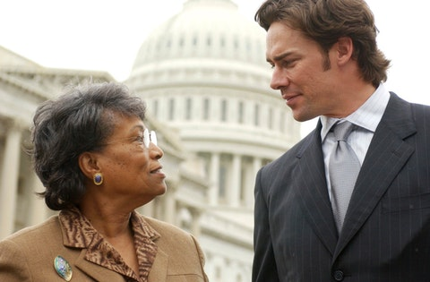 At work in DC in December 2001, Eva Clayton was a trailblazing former congresswoman from North Carolina. She was also a longtime local leader in Warren County, NC. (Getty Images)