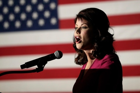 In this Nov. 7, 2018, file photo, then-Wisconsin Lt. Gov. Rebecca Kleefisch speaks at an election night event in Pewaukee. Republican Rebecca Kleefisch, who spent eight years as lieutenant governor under Scott Walker, has launched her campaign for governor. (AP Photo/Morry Gash, File)