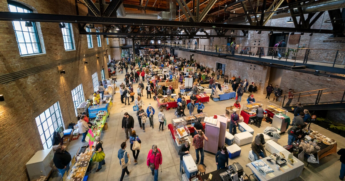 This is the first winter market being held at the recently renovated Garver Feed Mill on Madison's east side. (Photo © Andy Manis)