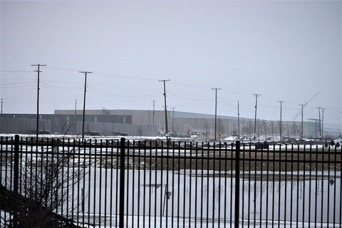 "Foxconn Technology Group's ""Gen 6"" facility in the Racine Co. village of Mount Pleasant is shown under construction, Jan. 15, 2020 (Photo by Jonathon Sadowski)"