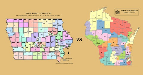 Proponents of non-partisan redistricting say non-politicians would draw political boundaries to be more compact and uniform as in Iowa. Wisconsin's district lines underwent significant and controversial changes after Republicans took over the process in 2011.