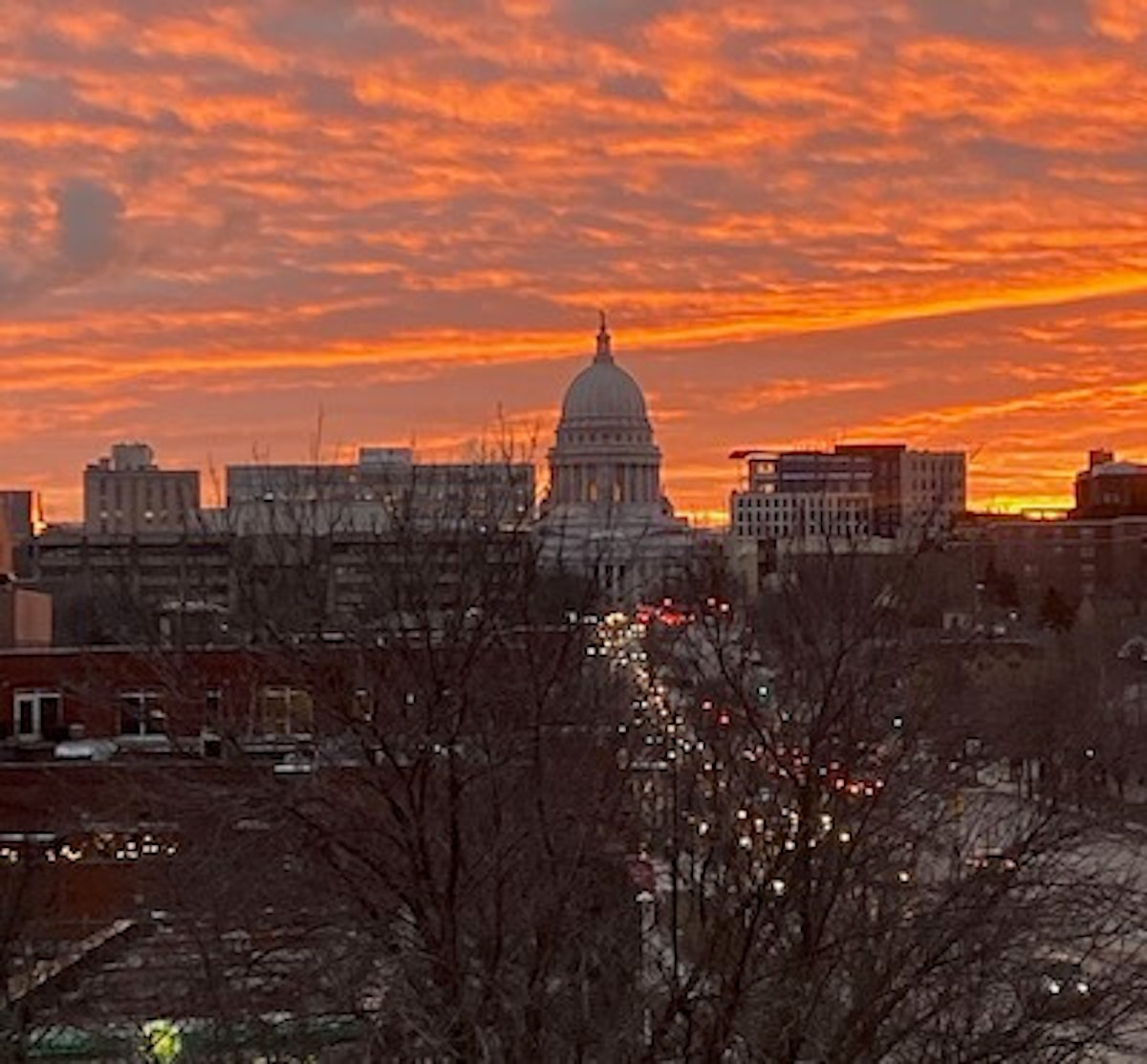 Madison as the sun set on 2019