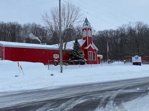 Maple Grove School in Marathon County, Jan. 20, 2020 (Photo by Pat Kreitlow)