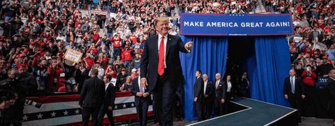 President Trump rallies supporters in Green Bay on Apr. 27, 2019