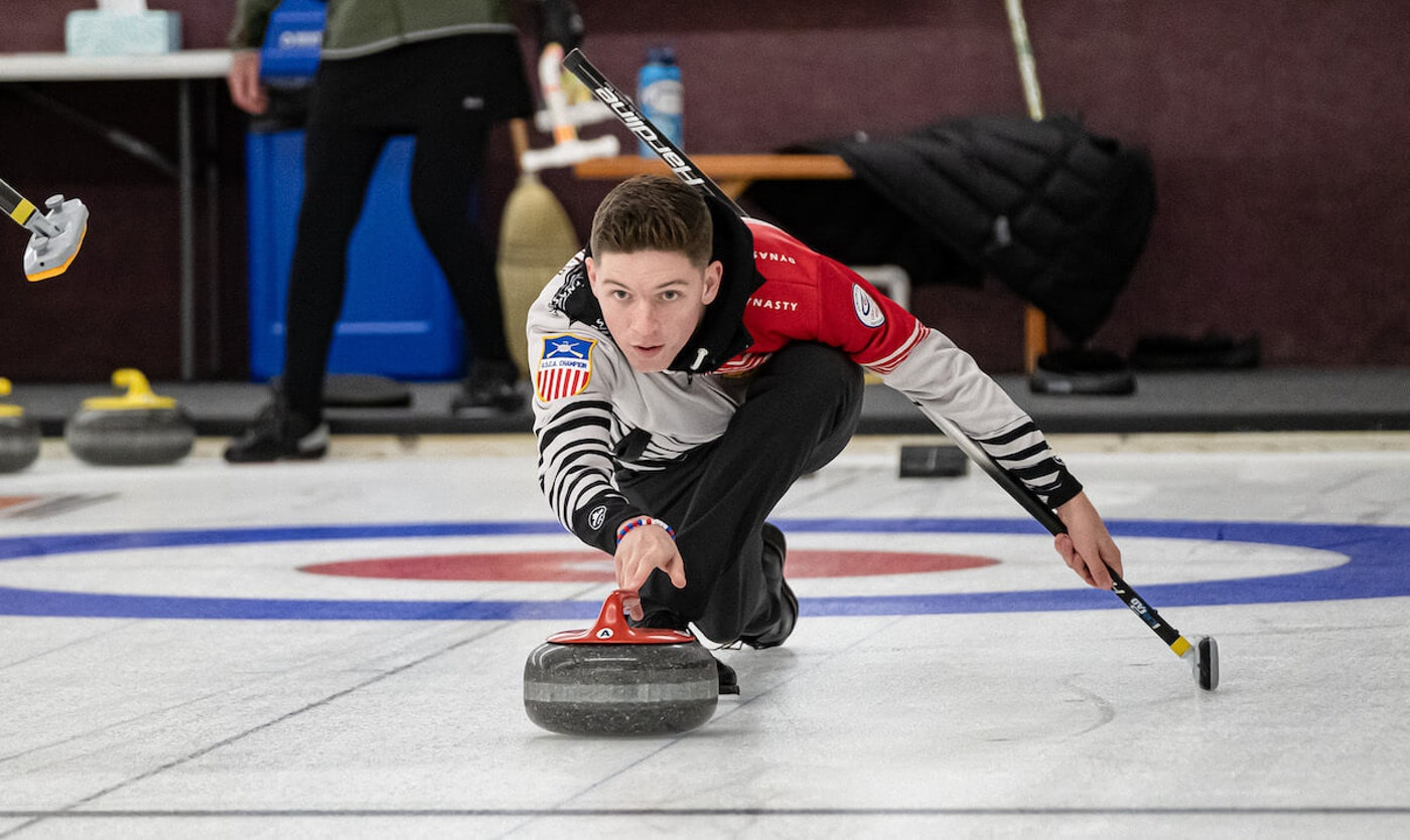 Curler Charlie Thompson of Eau Claire is one of six Wisconsin athletes on Team USA at the Youth Olympic Games that begin this week in Switzerland. (Photo by Jeff Thompson)