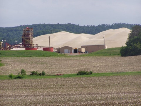 The Superior Silica Sands mine in Chippewa County is idle after its operator, Emerge Energy Services, failed to provide enough money to fully cover the cost of reclamation. (Photo by Pat Popple)