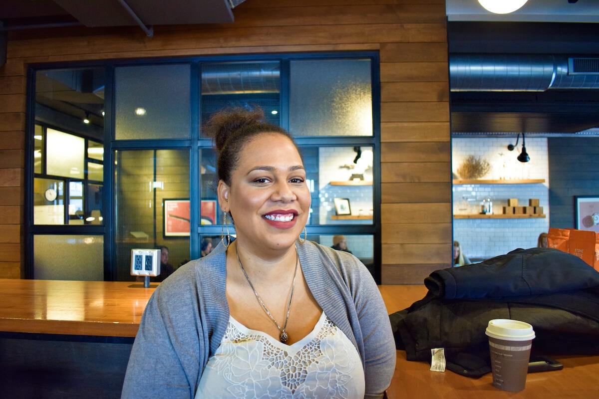 Angela Lang, 30, of Milwaukee, founded BLOC in 2017. (Photo by Jonathon Sadowski)