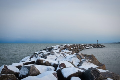 Lake Michigan is seen from Oak Creek's Bender Park. (Photo by Jonathon Sadowski)