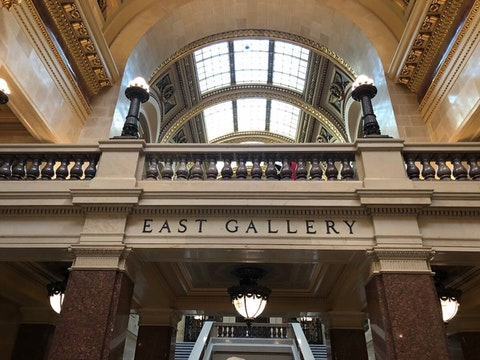 The East Gallery at the Capitol in Madison houses the governor's office. (Photo by Jessica VanEgeren)