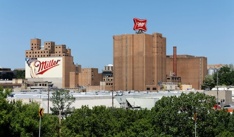 "The Miller Brewery, part of MolsonCoors, in Milwaukee's ""Miller Valley"" as shown in a 2013 image. (Shutterstock)"