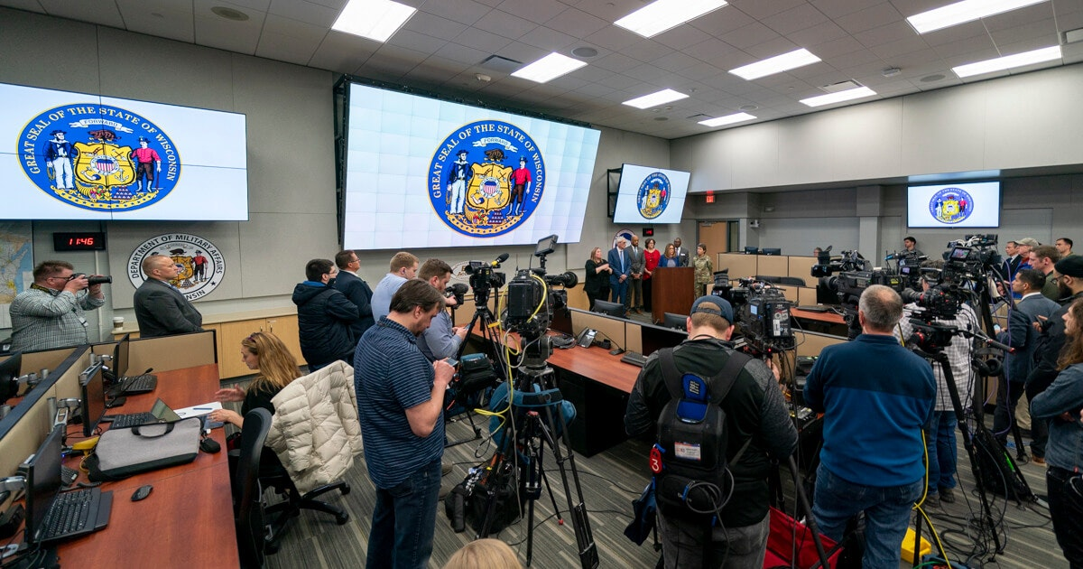 Gov. Tony Evers declares a public health emergency due to the coronavirus  Thursday. By Friday afternoon, the number of cases in Wisconsin had doubled to 19. (Photo © Andy Manis)