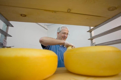 """Bob Wills is the """"big cheese"""" at Clock Shadow Creamery and Cedar Grove Cheese. (Photo courtesy of Clock Shadow Creamery/Facebook)"""