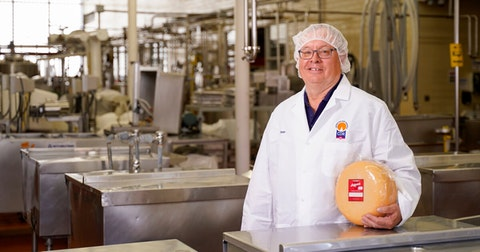 Dean Sommer, a cheese and food technologist, stands in the Center for Dairy Research facility on the UW-Madison campus. (Photo © Andy Manis)