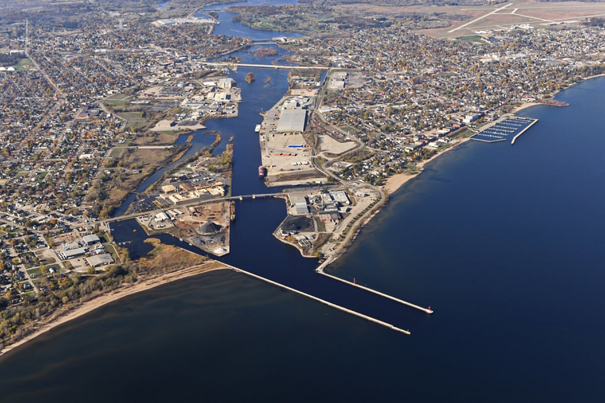The Port of Marinette. (Photo by US Army Corp of Engineers)