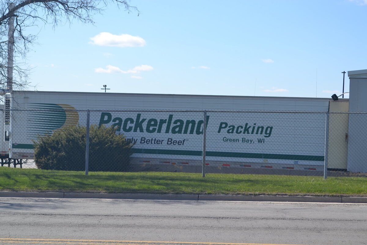 The JBS Packerland meat processing facility in Green Bay, WI