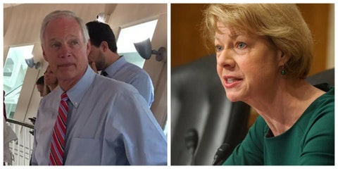 Wisconsin's U.S. senators Ron Johnson, a Republican, and Tammy Baldwin, a Democrat, are calling for an investigation into missing absentee ballots in Wisconsin. (Photo illustration by Jonathon Sadowski)