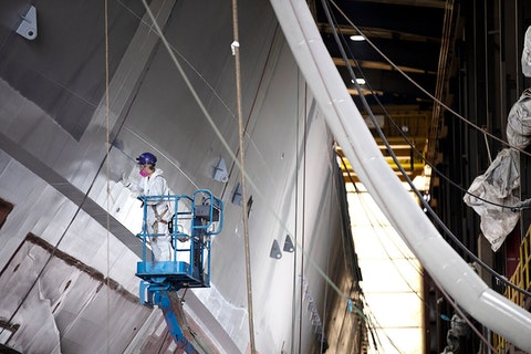 "Fincatieri Marine Group, a shipbuilder in Marinette, is reporting daily updates of confirmed coronavirus cases among its workforce. ""We feel we owe our community timely and factual information,"" a company spokesman said. (Photo courtesy Fincatieri Marine Group)"