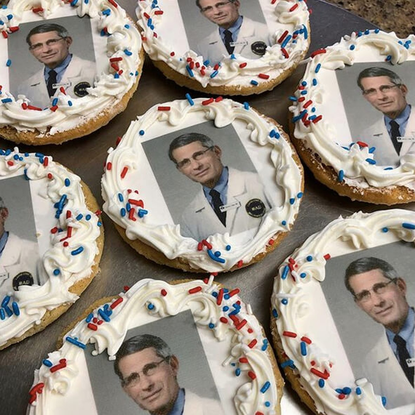 Sugar cookies with Dr. Antony Fauci on them are a new and hot seller at Uncle Mike's