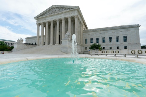 The U.S. Supreme Court is seen in Washington, DC, early Monday, June 15, 2020. (AP Photo/J. Scott Applewhite)