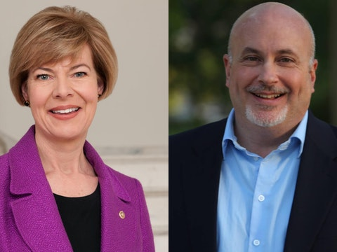 Sen. Tammy Baldwin (D-Wis.) and U.S. Rep. Mark Pocan (D-Madison)