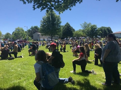 Hundreds Attend Black Lives Matter Demonstration in Mount Horeb