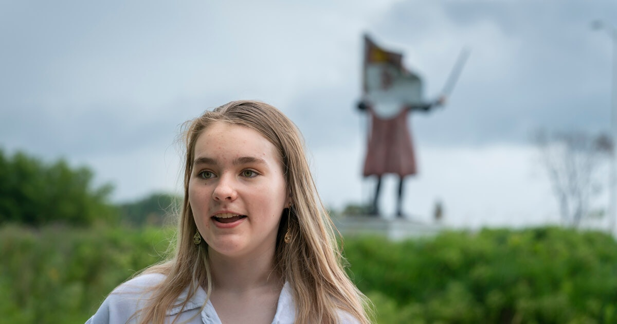 This 16-Year-Old Led the Push to Bring Down Columbus Statue in Columbus, WI