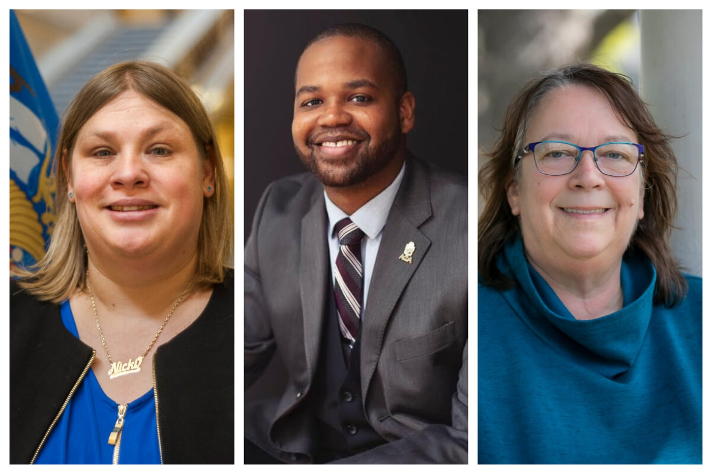 Nicki Vander Meulen, Tyrone Cratic Williams, and Marsha Rummel are three of the seven Democratic candidates running in the Aug. 11 primary to replace Rep. Chris Taylor, D-Madison, who will not be running for reelection.