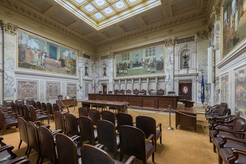 Wisconsin Supreme Court chambers in the state Capitol.