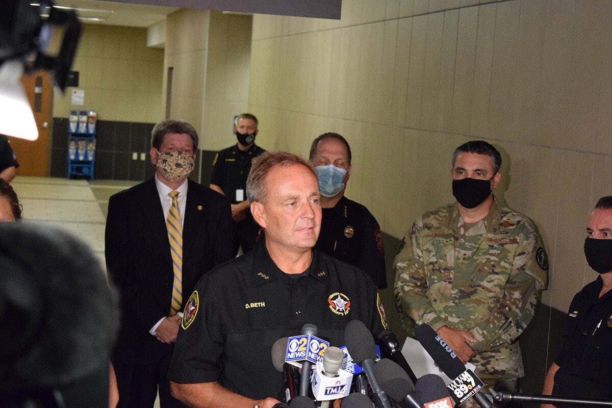 Kenosha County Sheriff David Beth claims he hasn't seen Jacob Blake video.