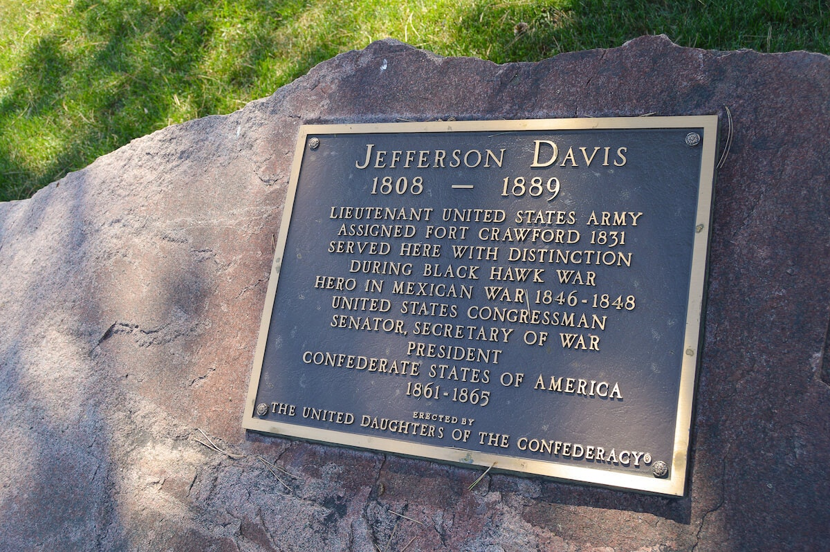 A Confederate Memorial to Jefferson Davis in Wisconsin? Yes, and It May Be There for a While.