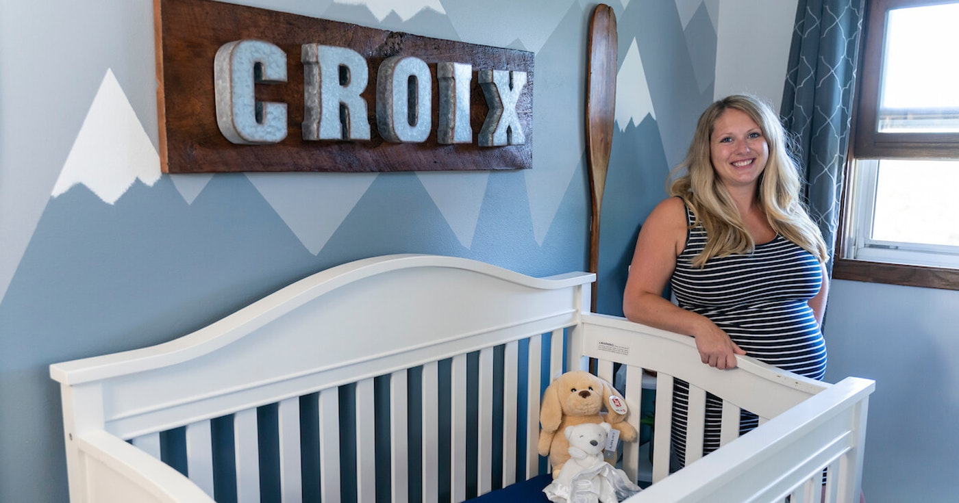 Maria and Matt Doegler of Marshall are expecting their first child, a baby boy who they plan to name Croix, at the end of September. They were unable to find a child care center for Croix because so many have closed due to COVID-19. (Photo © Andy Manis)