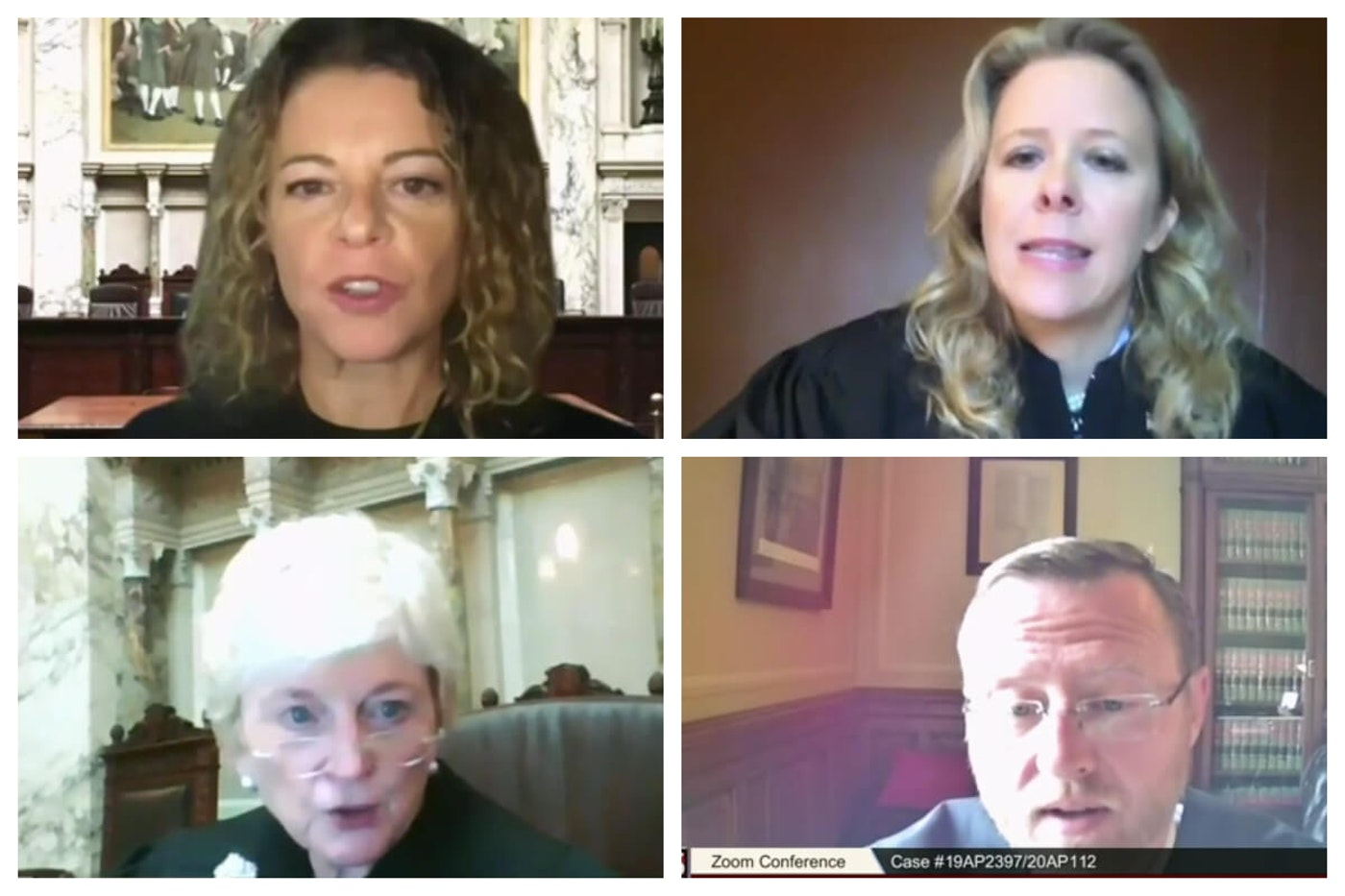 Rebecca Dallet, Rebecca Bradley, Pat Roggensack, and Brian Hagedorn.