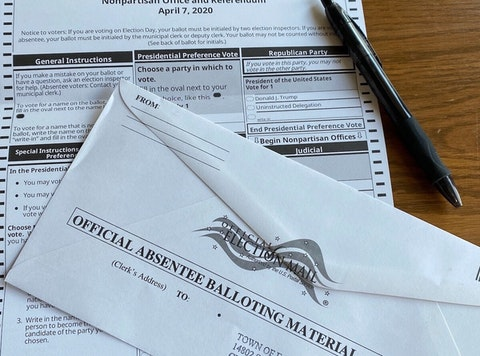 Absentee Ballot and Envelope