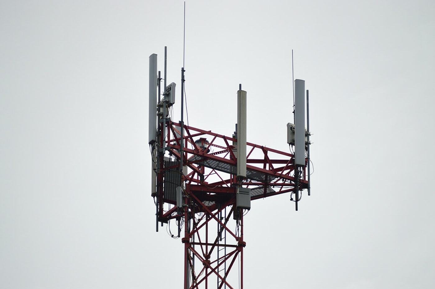 An internet tower. (Photo via Pexels/Miguel Á. Padriñán)