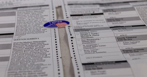 Samples ballot in Wisconsin. (Photo © Lola Abu-Shawareb)