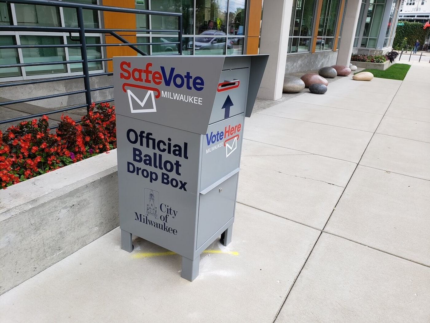 Drop boxes are designed to provide voters an alternative spot to deliver their absentee ballot, as opposed to traditional mail service. (Photo by Ethan Duran)
