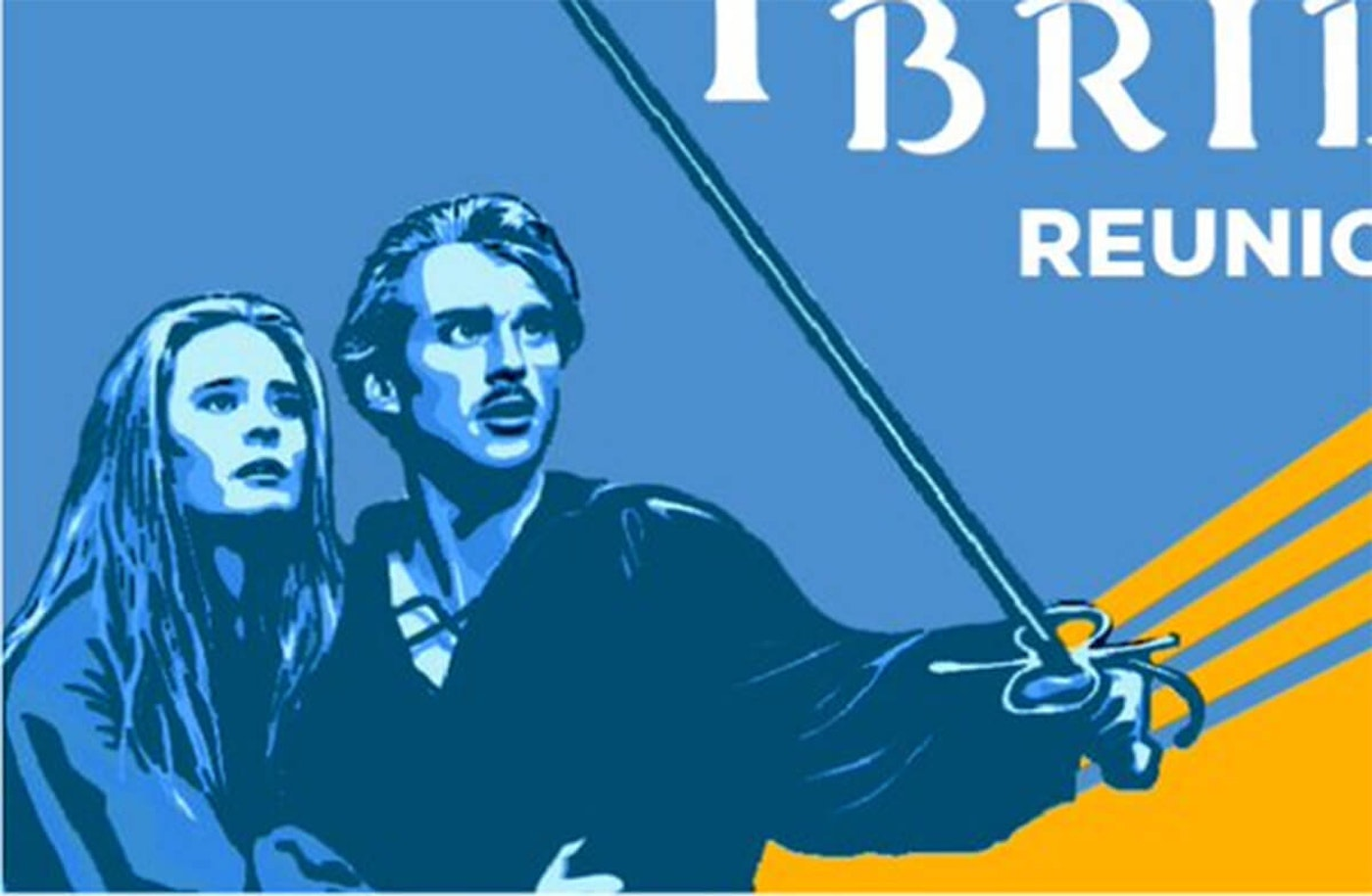 """Robin Wright and Cary Elwes reunite with the cast of """"The Princess Bride"""" for a Democratic Party of Wisconsin fundraiser Sunday. (Image DPW)"""