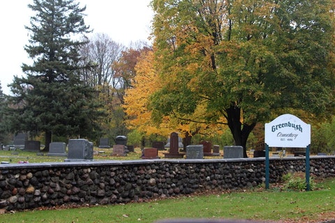 Greenbush Cemetery was established during the same year that Wisconsin became a state.