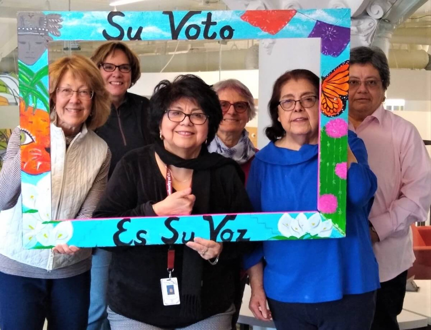 "The League of Women Voters of Milwaukee County's Comité por el Voto Latino/Latinx Voter Outreach Committee promotes its ""Your Vote is Your Voice"" campaign. (Photo provided by the League of Women Voters of Wisconsin)"