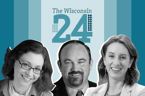 Incoming Assembly representatives (from left to right) include Rachael Cabral-Guevara (R-Fox Crossing); Clint Moses (R-town of Menomonie),and Lee Snodgrass (D-Appleton). (Graphic illustration by Morgaine Ford-Workman)
