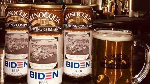 Minocqua Brewing Co.'s latest beer offering celebrates the victor of the Nov. 3 election. (Photo provided)