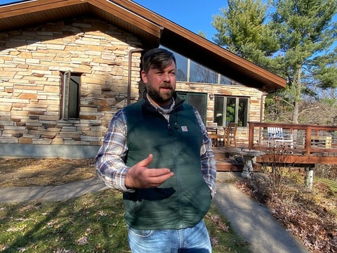As someone who lives in a rural setting and who is chairman of the Dunn County Democratic Party, Bill Hogseth experiences both sides of the growing political divide between Wisconsin's urban and rural residents. (Photo by Julian Emerson)