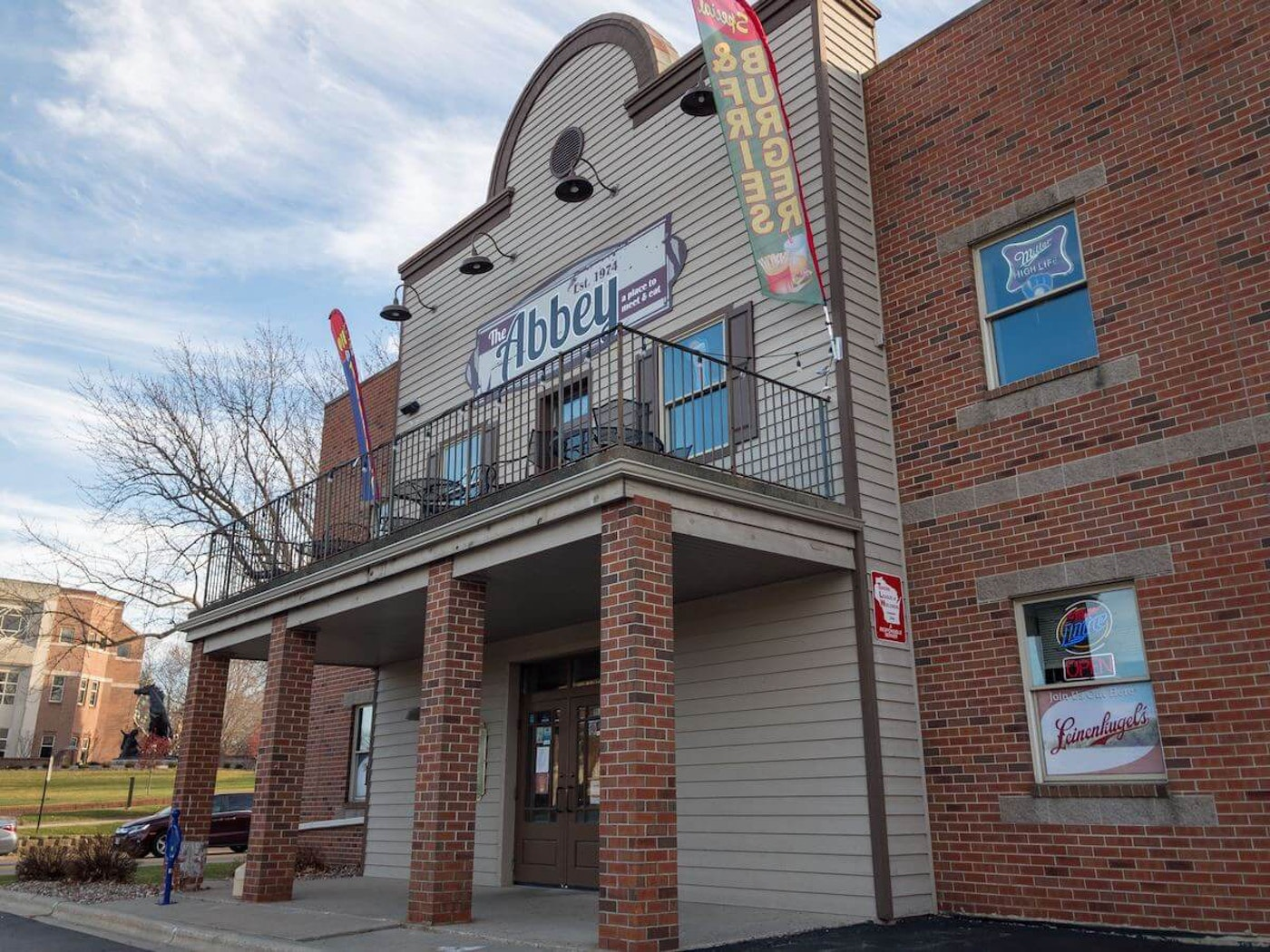 The Abbey, a neighborhood sports bar and restaurant in De Pere, has become an institution among St. Norbert College students, alumni, faculty, and staff. (Photo by Christina Liefrring)