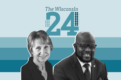 Rep.-elect Sue Conley (D-Milwaukee) and Rep.-elect Supreme Moore Omokunde (D-Milwaukee) are two of the new members of the Wisconsin Assembly. (Graphic Illustration by Morgaine Ford-Workman)